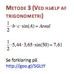 Areal formler for en trekant